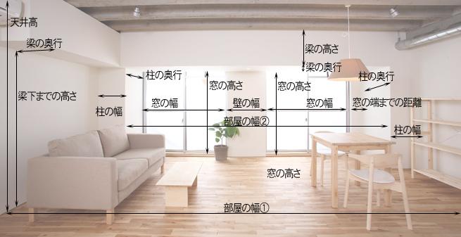 部屋の寸法図