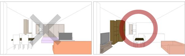 空間がある部屋とない部屋の比較