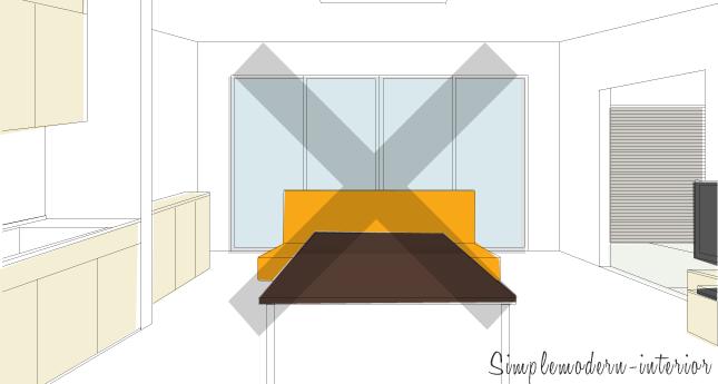 視線の抜け道がないリビング・ダイニングの家具レイアウトの例