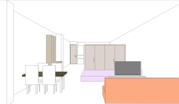 空間作りの失敗例のパース図