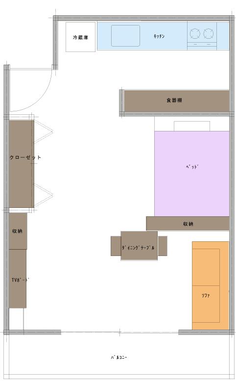 空間作りの成功例の平面図