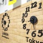 ステンシルDIY!英語+壁掛け時計のおしゃれWORLD CLOCK実例
