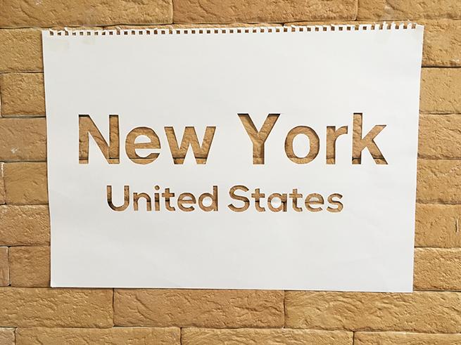 New Yorkのステンシル