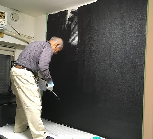 壁を黒板化