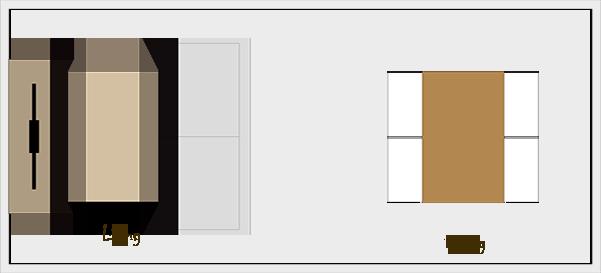 横長リビングダイニングの家具レイアウト【パターン2】
