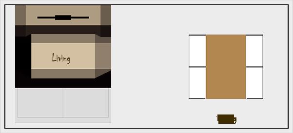 横長リビングダイニングの家具レイアウト【パターン3】