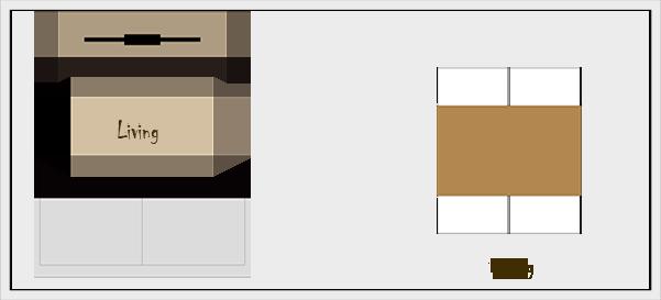 横長リビングダイニングの家具レイアウト【パターン4】