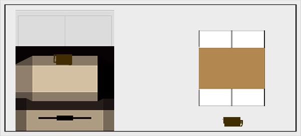 横長リビングダイニングの家具レイアウト【パターン5】