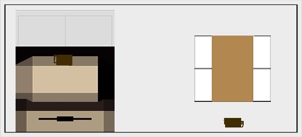 横長リビングダイニングの家具レイアウト【パターン6】