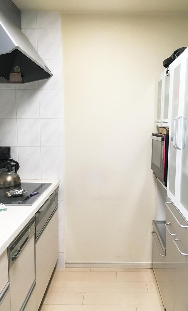 キッチンの袖壁