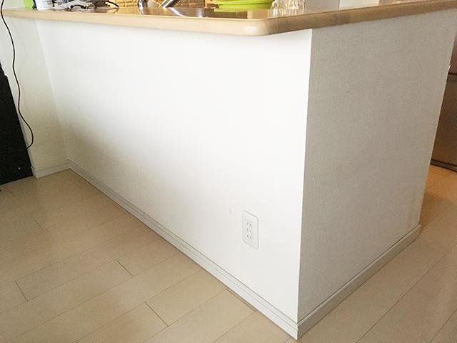 キッチンの腰壁