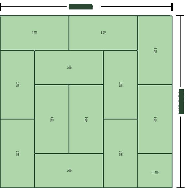 12.5畳正方形リビングダイニング