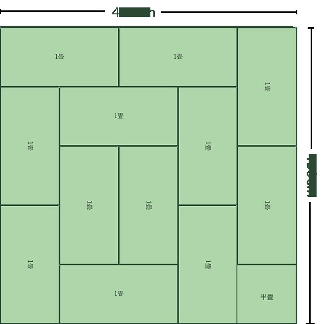 12畳正方形リビング