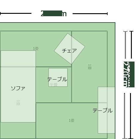 4.5畳正方形より広めのリビングのレイアウト9