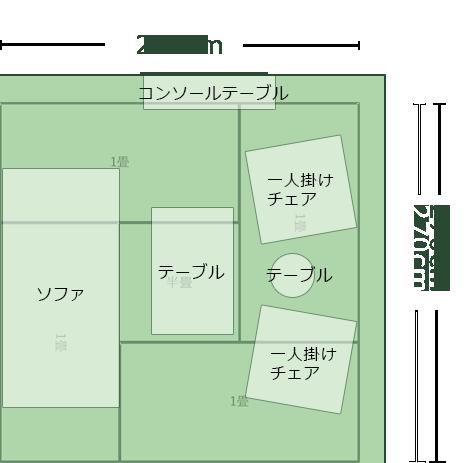 4.5畳正方形より広めのリビングのレイアウト10