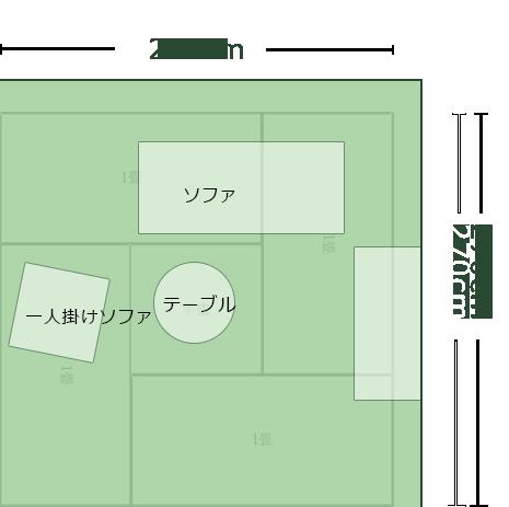 4.5畳正方形より広めのリビングのレイアウト8