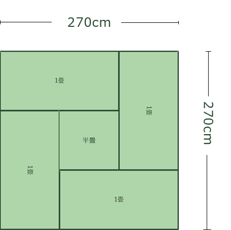 4.5畳正方形リビング