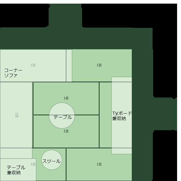 8畳正方形リビング①