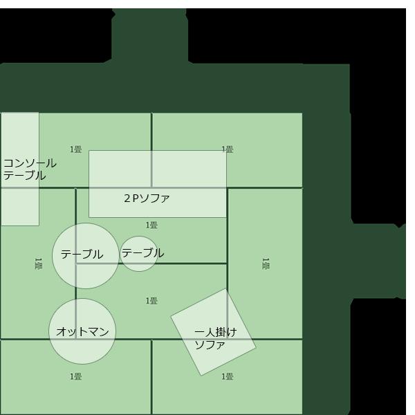 8畳正方形リビング⑭