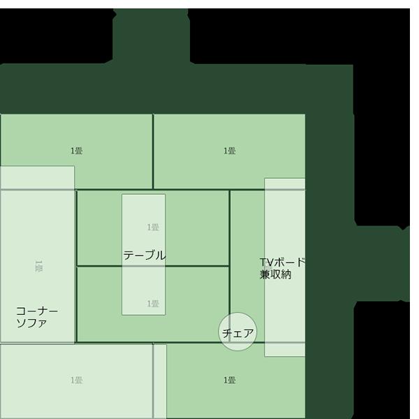 8畳正方形リビング②