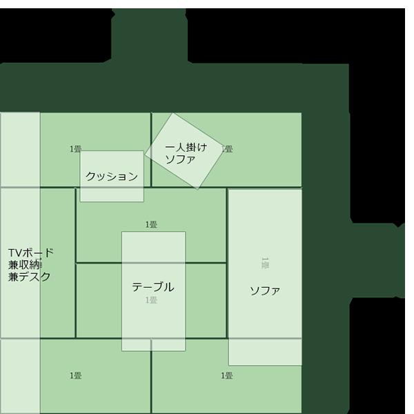 8畳正方形リビング③