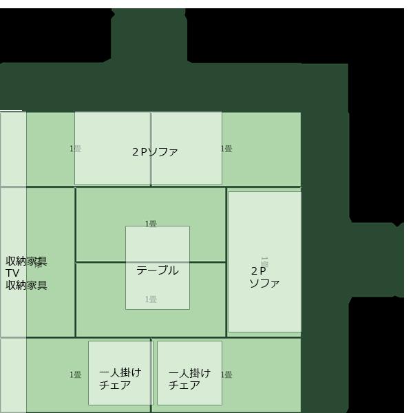 8畳正方形リビング④