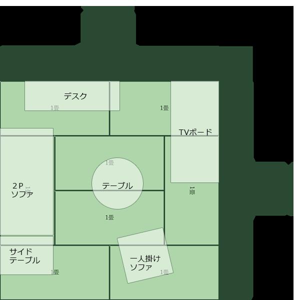 8畳正方形リビング⑤