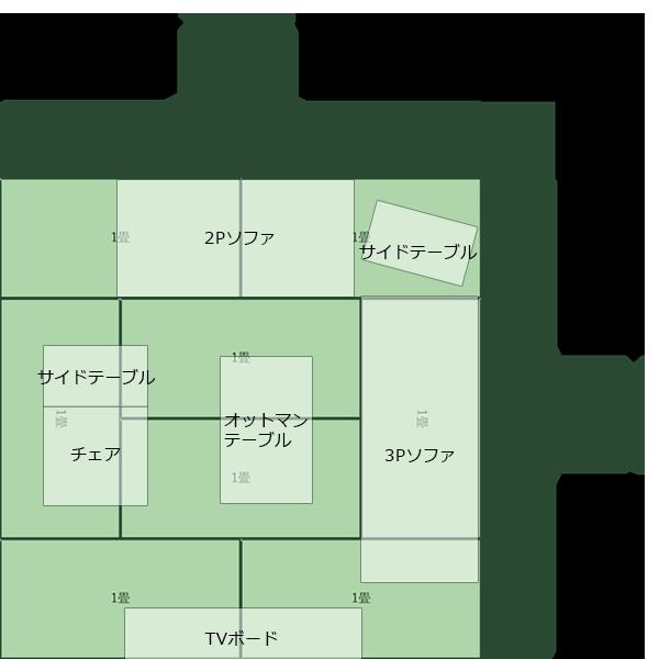 8畳正方形リビング⑦