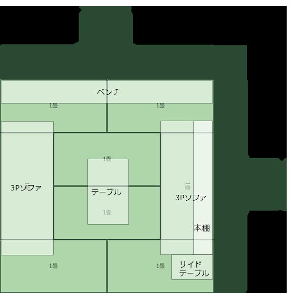 8畳正方形リビング⑧