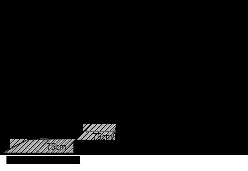 コーナーに正方形ダイニングテーブルをレイアウトする時の最低限必要寸法図
