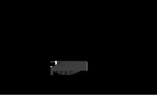 コーナーに円形ダイニングテーブルをレイアウトする時の最低限必要寸法図