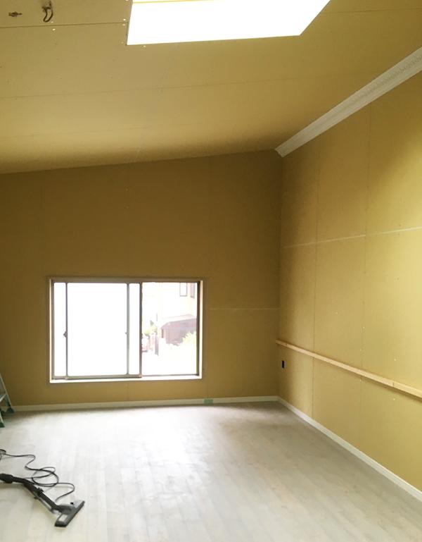 壁紙施工前の壁