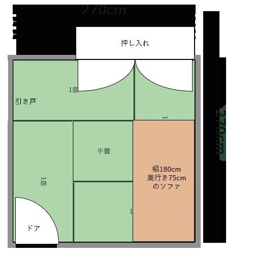 4畳半の部屋の建具