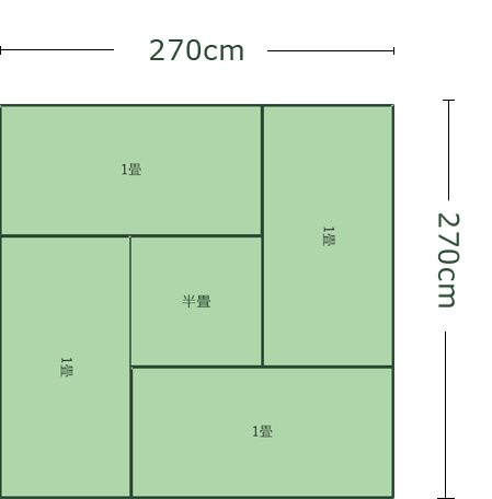 4畳半の部屋のワンルーム
