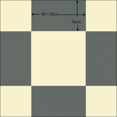 150cm角の正方形テーブル