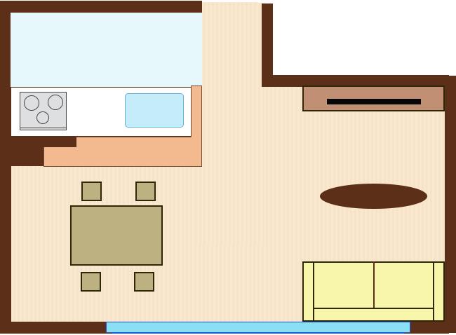 ソファを窓を背にレイアウト