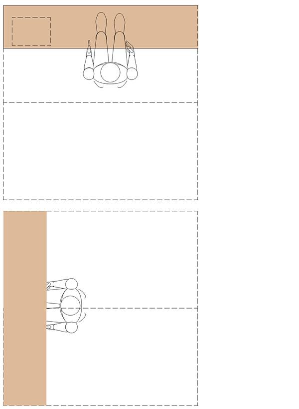 2畳のデスクレイアウト
