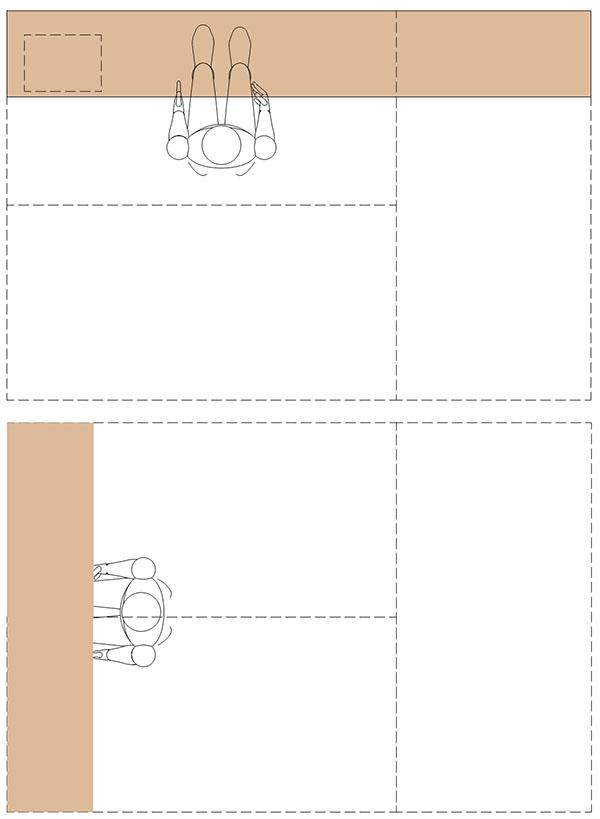3畳のデスクレイアウト