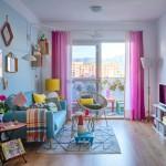 暖色カーテンの色選びの参考に。床色&インテリアとのコーディネート実例