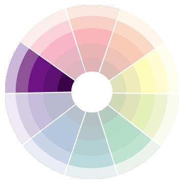 紫のトーン