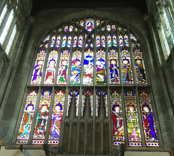 ホーリー・トリニティ教会のステンドグラス