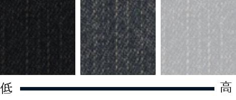 明度違いの3色のグレー