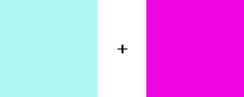 水色とピンクの気持ち悪い組み合わせ