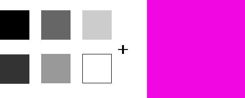 モノトーン+鮮やかなピンク