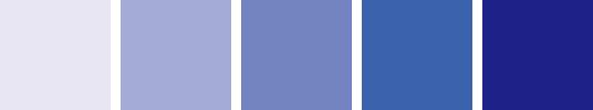 青の明暗パレット