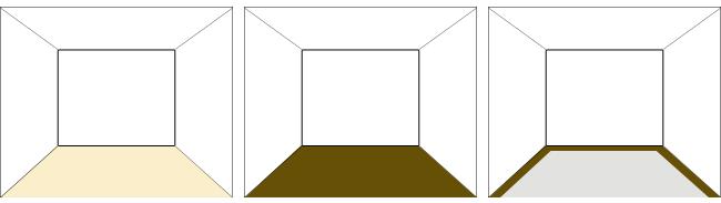 床面の明暗3パターン