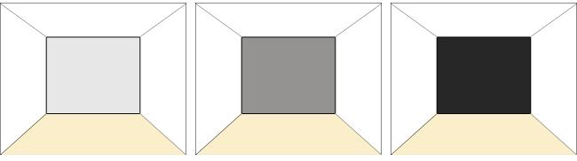 壁面の明暗3パターン