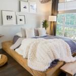 毛布・ブランケットを顔にした暖か寝室のコーディネート25選