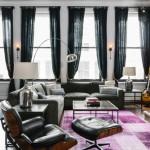 どの色でもマッチ!黒のソファとラグ12通りの組み合わせ&30実例