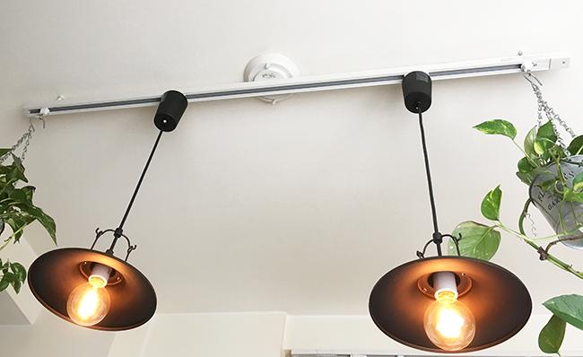 エジソンランプとペンダント照明